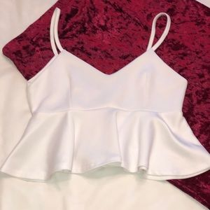 Small Fabulous Bright White Party Crop Top!